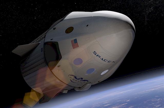 Die nächste Generation: Ein bemanntes Raumschiff, das die soll Weltraumindustrie revolutionieren soll und fast überall auf der Erde landen kann. (Foto: SpaceX)