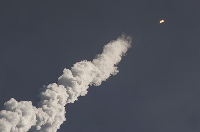 Start der Falcon 9 Rakete anlässlich der ORBCOMM OG2 Mission am 1. Juli 2014 (Foto: SpaceX)