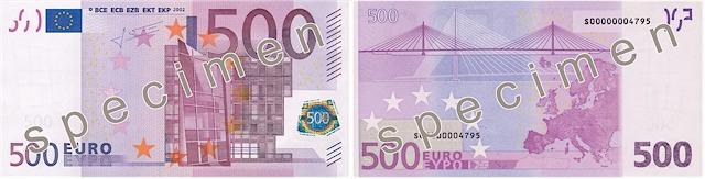 Der 500-Euro-Schein schließlich zeigt sich klotzig, abweisend und kalt (Foto: