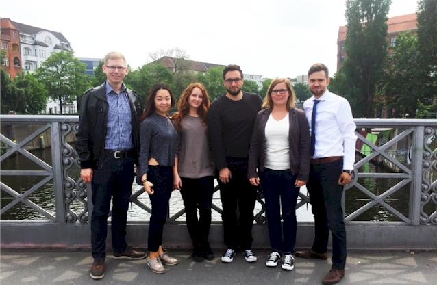 v.l.n.r: Marcel Randermann, Julie Liu, Julia Kozubek, Martin Kulik, Maria Frick, Jan Scherpinski (Foto: JA zu Integration)