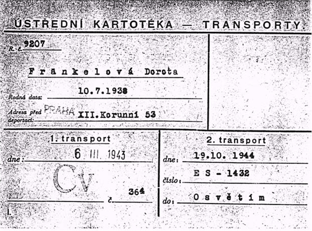 Transport-card from the year 1943 (© H. Wilkes)