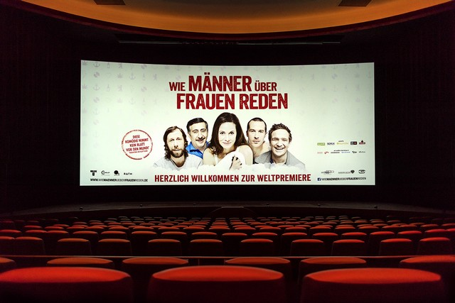 "Kinosaal im Berliner Zoo Palast zur Filmpremiere ""WMÜFR"". (Foto: Rolf G. Wackenberg"