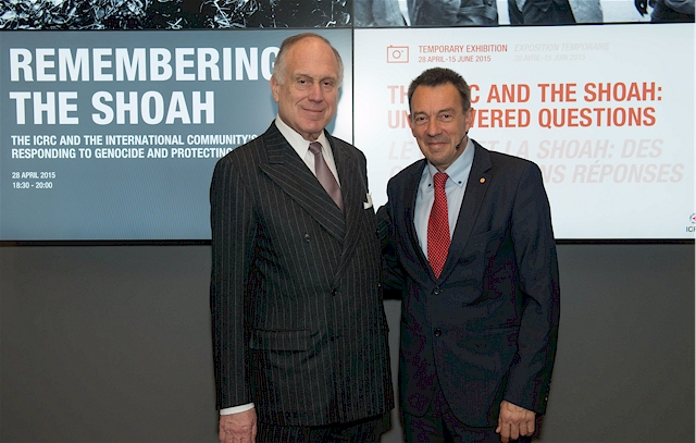 ICRC President Peter Maurer and WJC President Ronald S. Lauder (Foto: Shahar Azran)