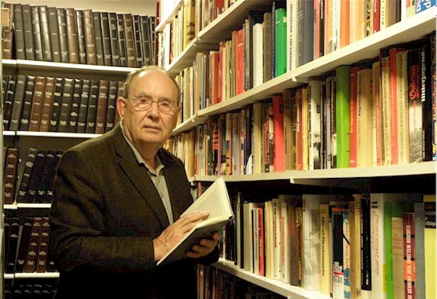 Gerd Heidemann im Hamburger Archiv